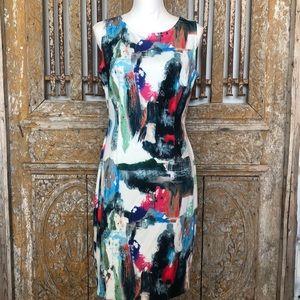 JOSEPH RIBKOFF Multi Color Sleeveless DRESS 12